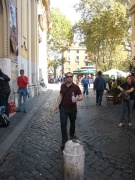 Chris in Trastevere