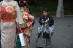 The kids in traditional dress were adorable.