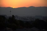 Sun setting over Kyoto