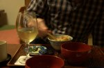 Tempura and chardonnay - a gaijin feast.